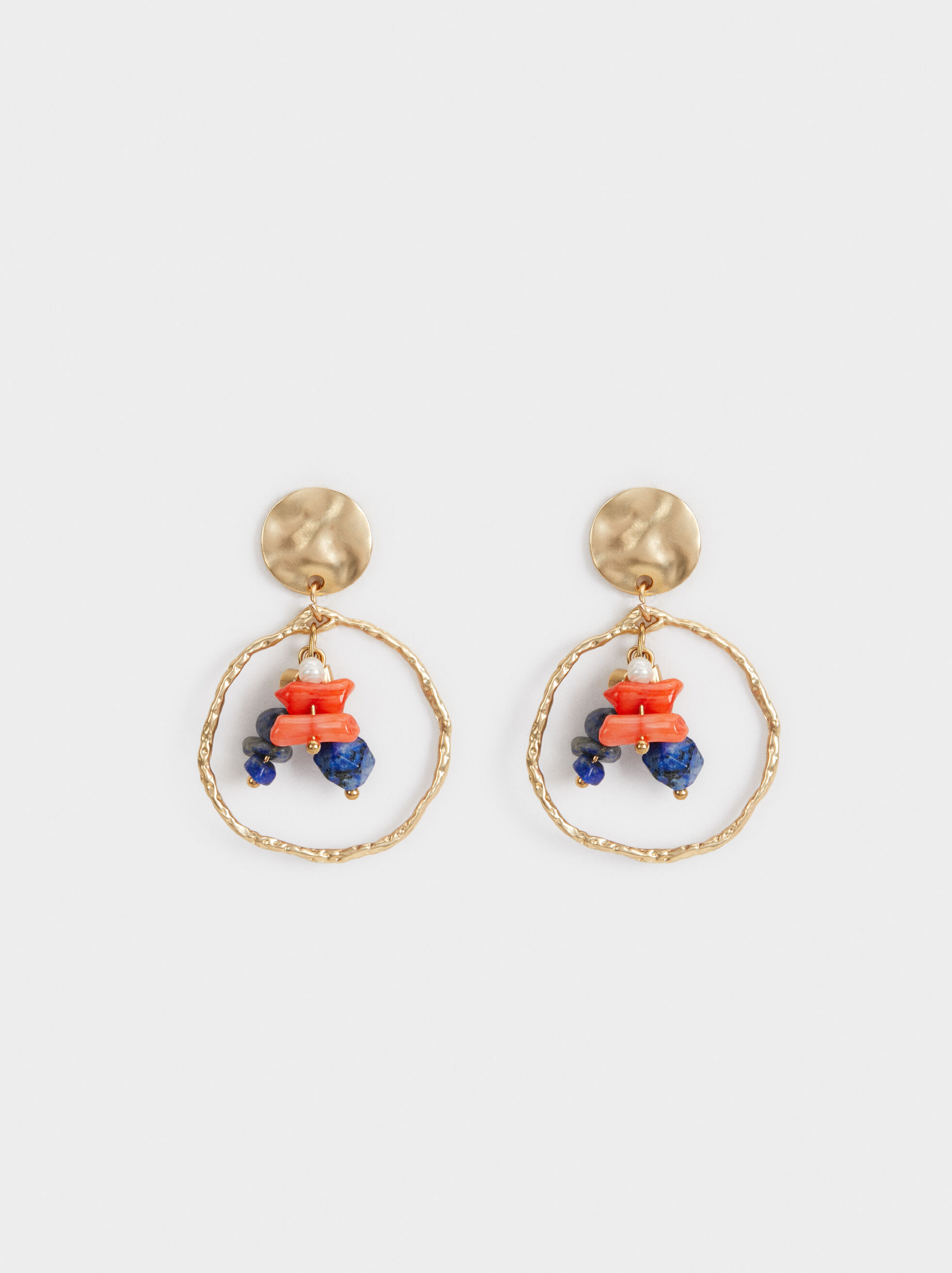 Zorba Long Earrings With Beading, Multicolor, hi-res
