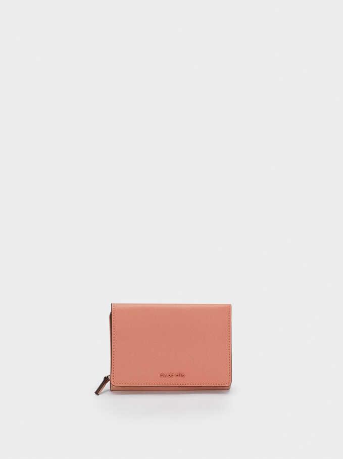 Portefeuille Uni Compact, Rose, hi-res