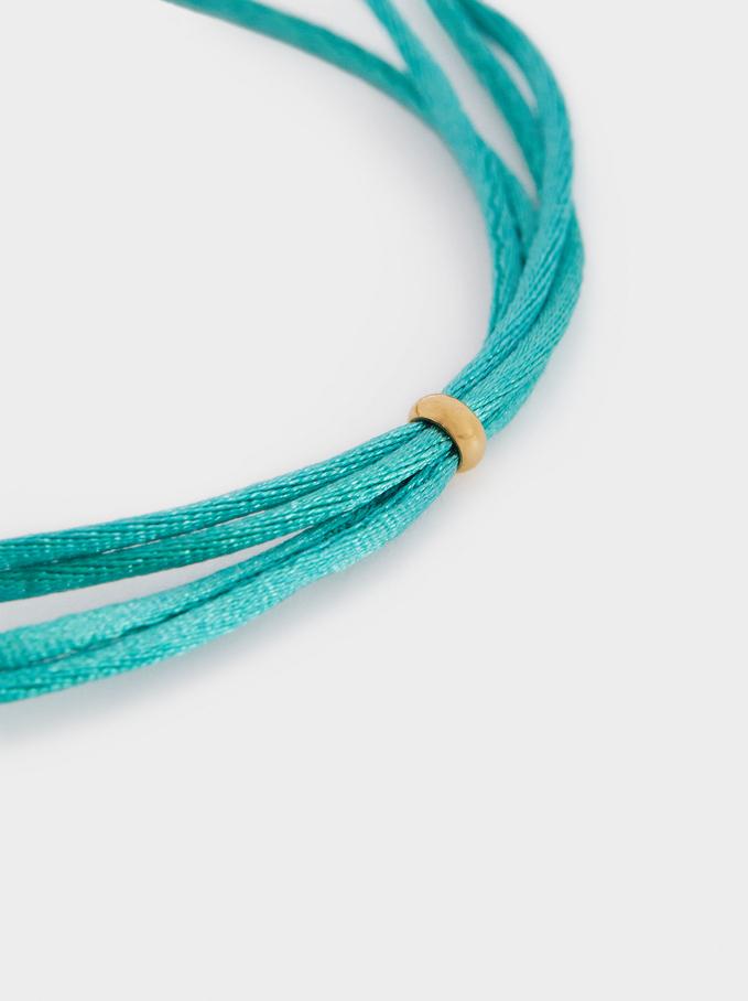 Bracelet Réglable En Acier Perles Fantaisie, Multicolore, hi-res