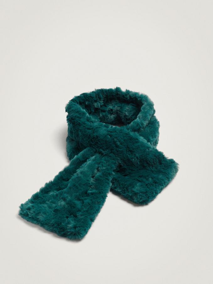Fur Stole, Green, hi-res