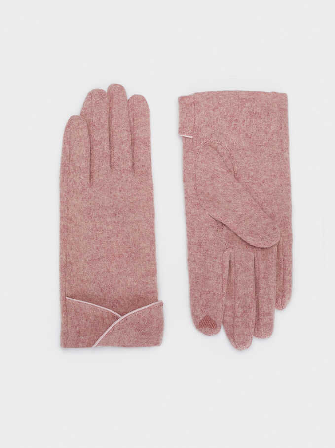 Wool Gloves, Pink, hi-res