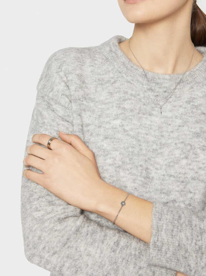 Adjustable Rose Gold Bracelet, Silver, hi-res