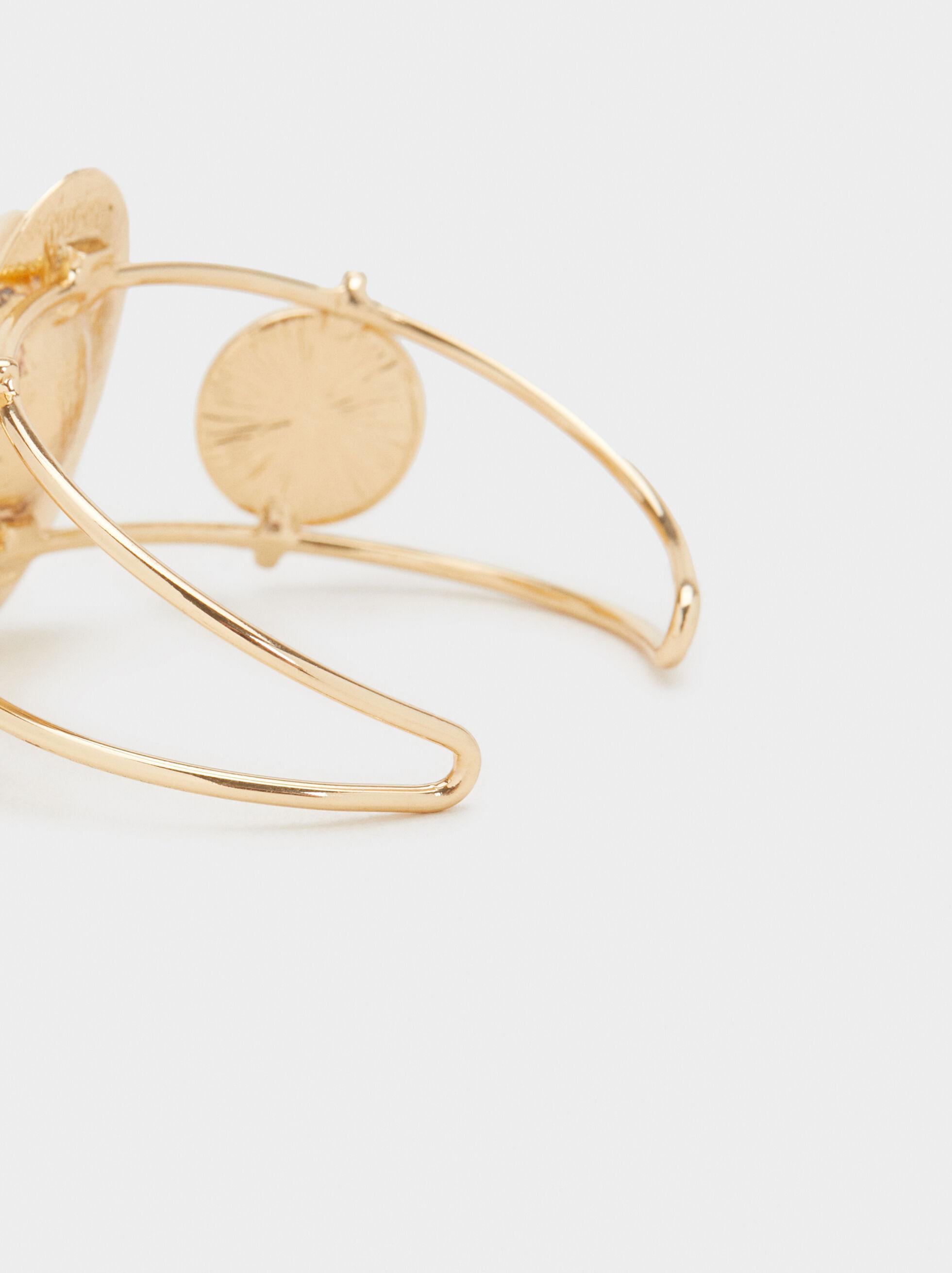 Rigid Seashell Bracelet, Golden, hi-res