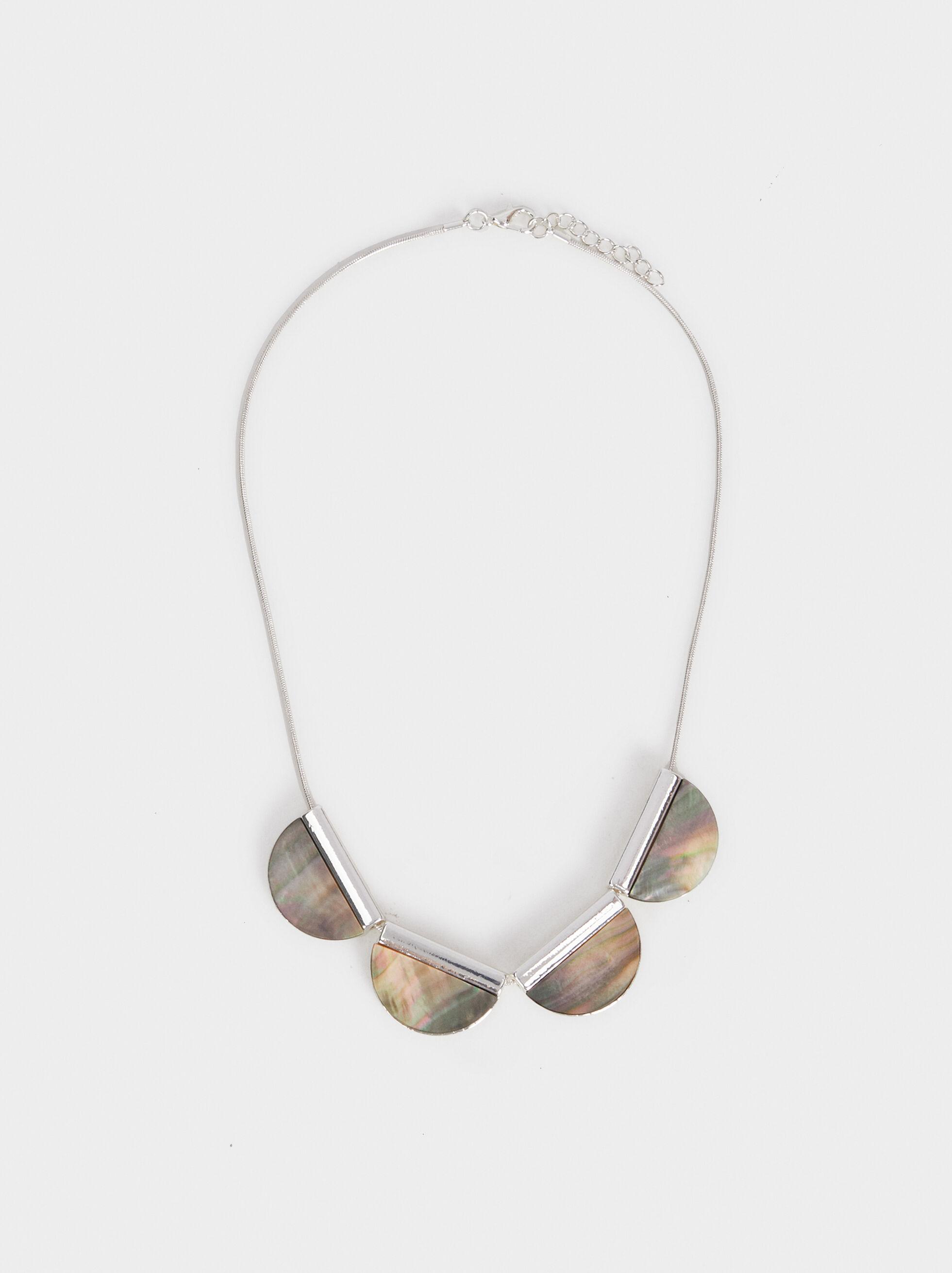 Basic Short Necklace, Silver, hi-res