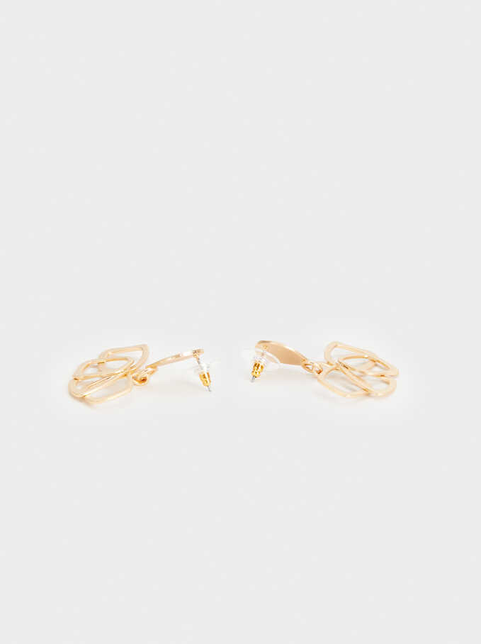 Exclusive Collection Medium Flower Earrings, Golden, hi-res
