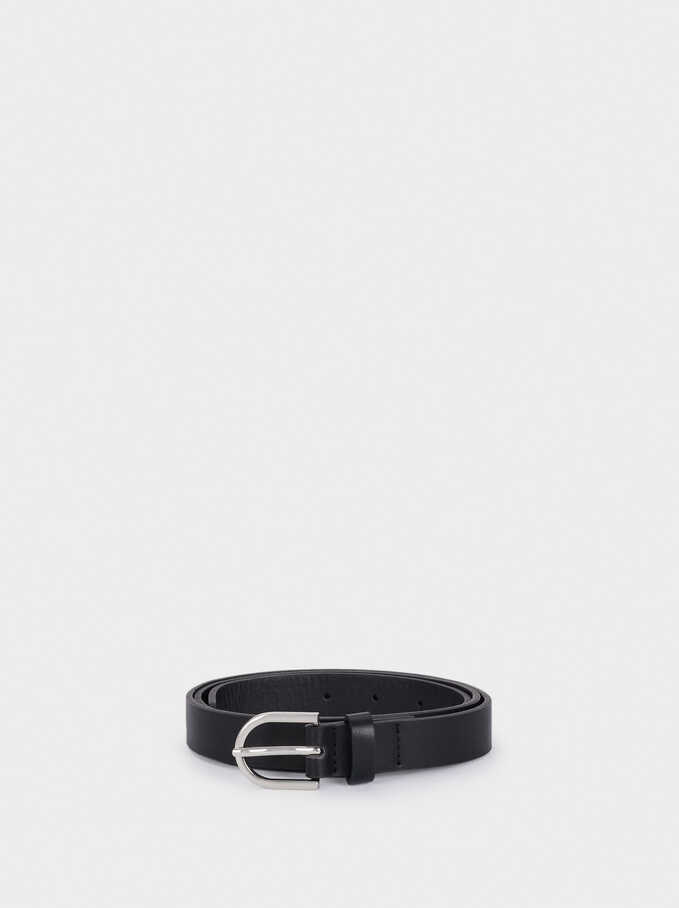 Belt Made From Recycled Materials, Black, hi-res