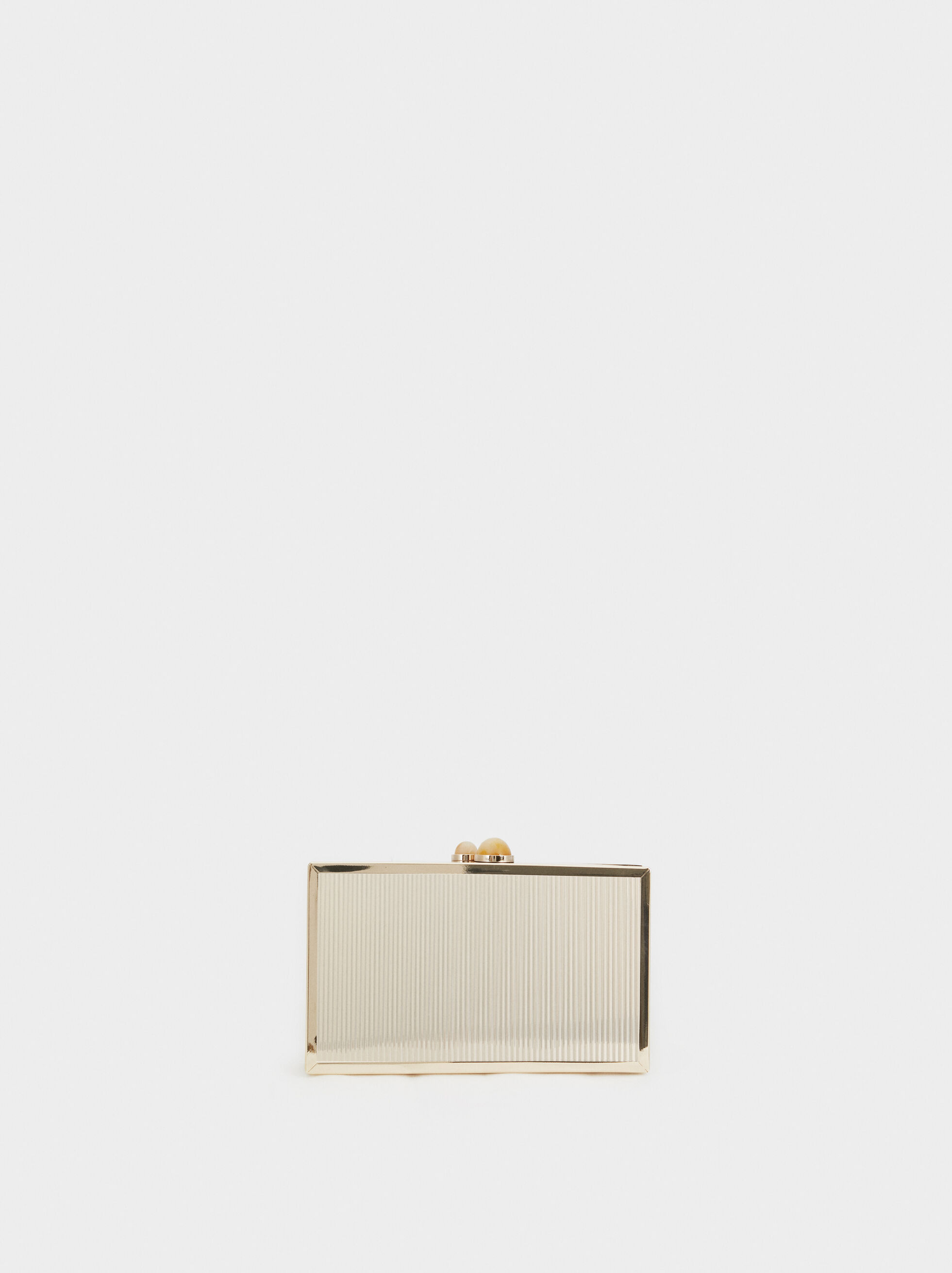 Metallic Party Clutch, Golden, hi-res