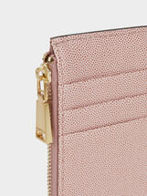 Plain Medium Card Holder, Pink, hi-res