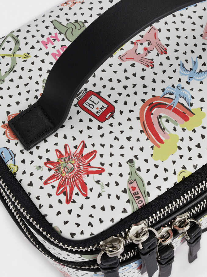 Printed Multi-Purpose Bag With, White, hi-res