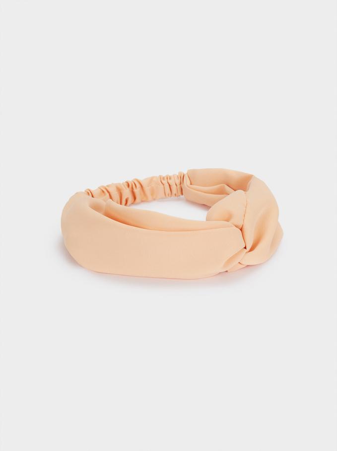 Turban-Style Headband, Pink, hi-res