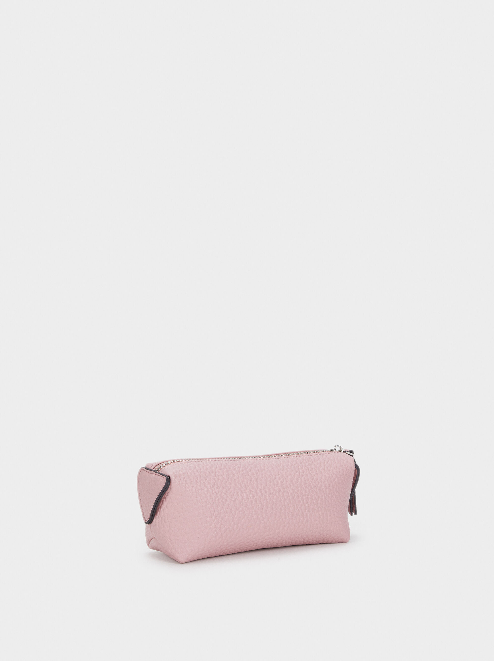 Textured Pencil Case, Pink, hi-res