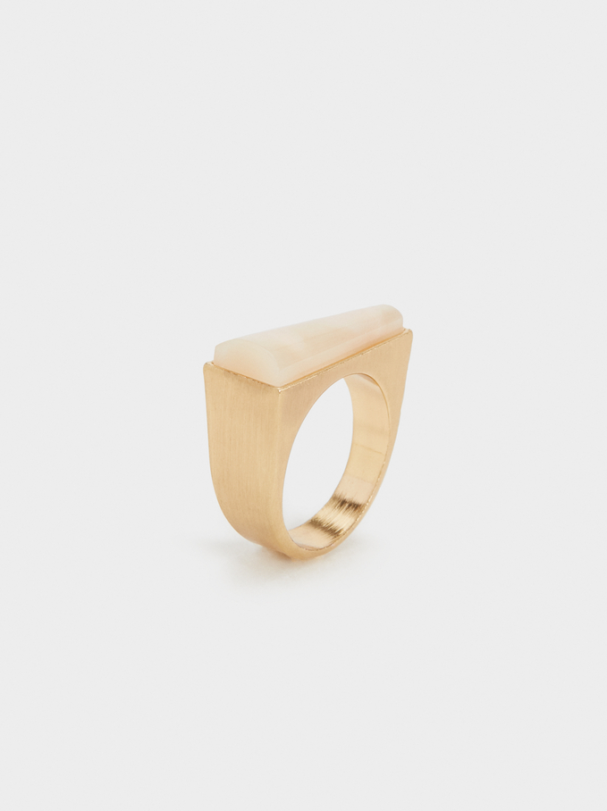 Stone Story Ring With Stone, Pink, hi-res