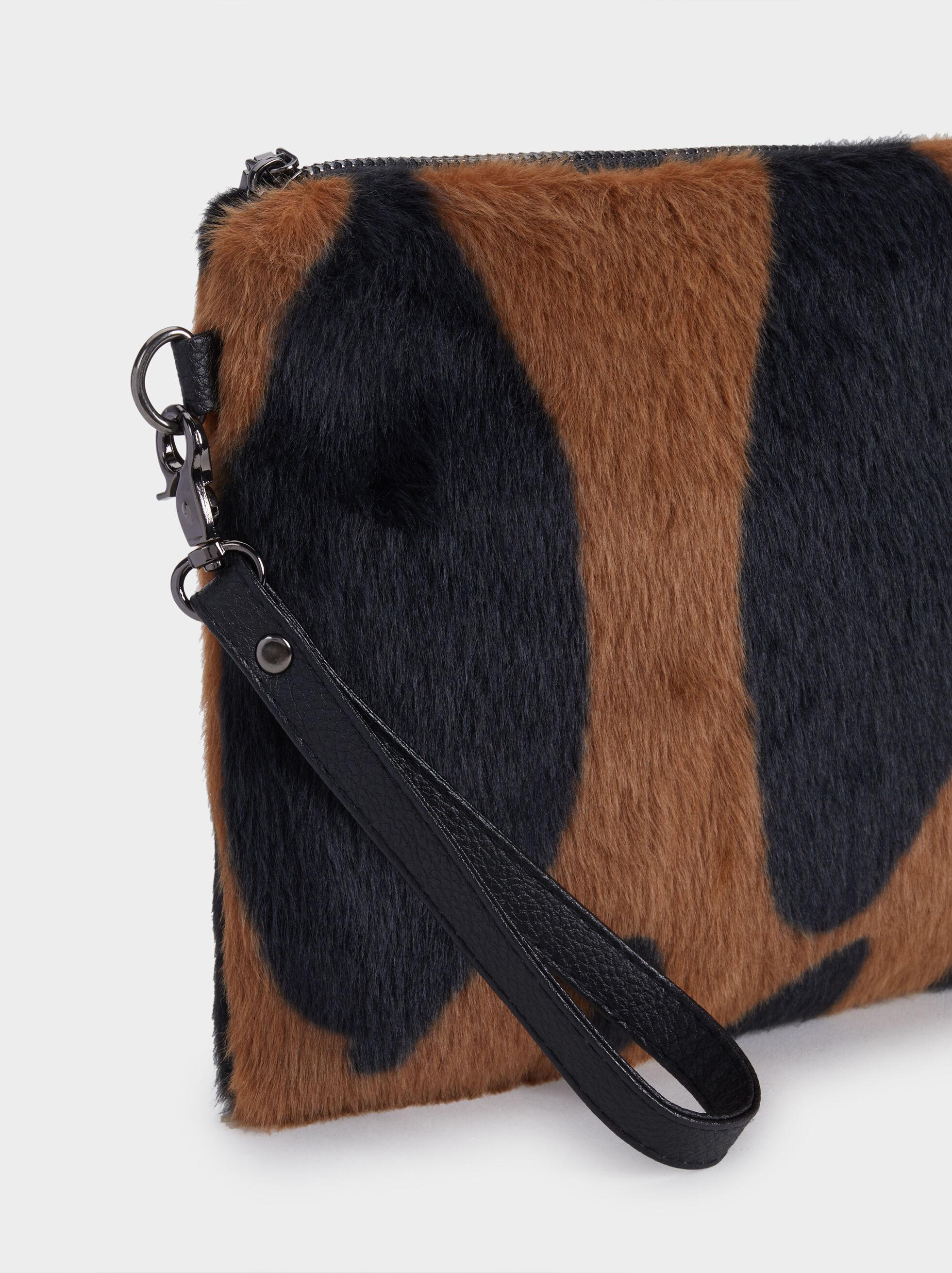 Fur Multi-Purpose Bag, Brown, hi-res