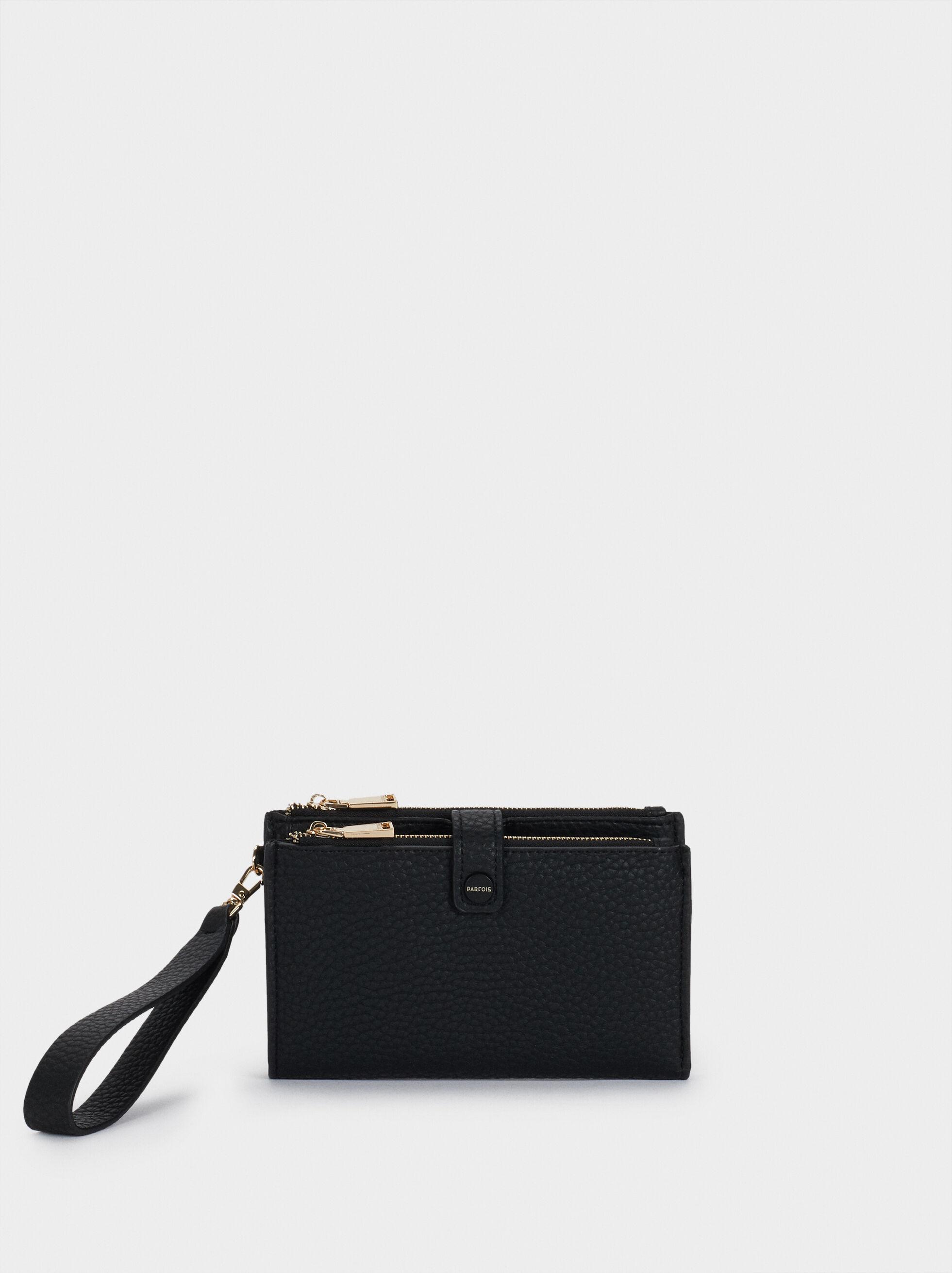 Wallet With Detachable Hand Strap, Black, hi-res