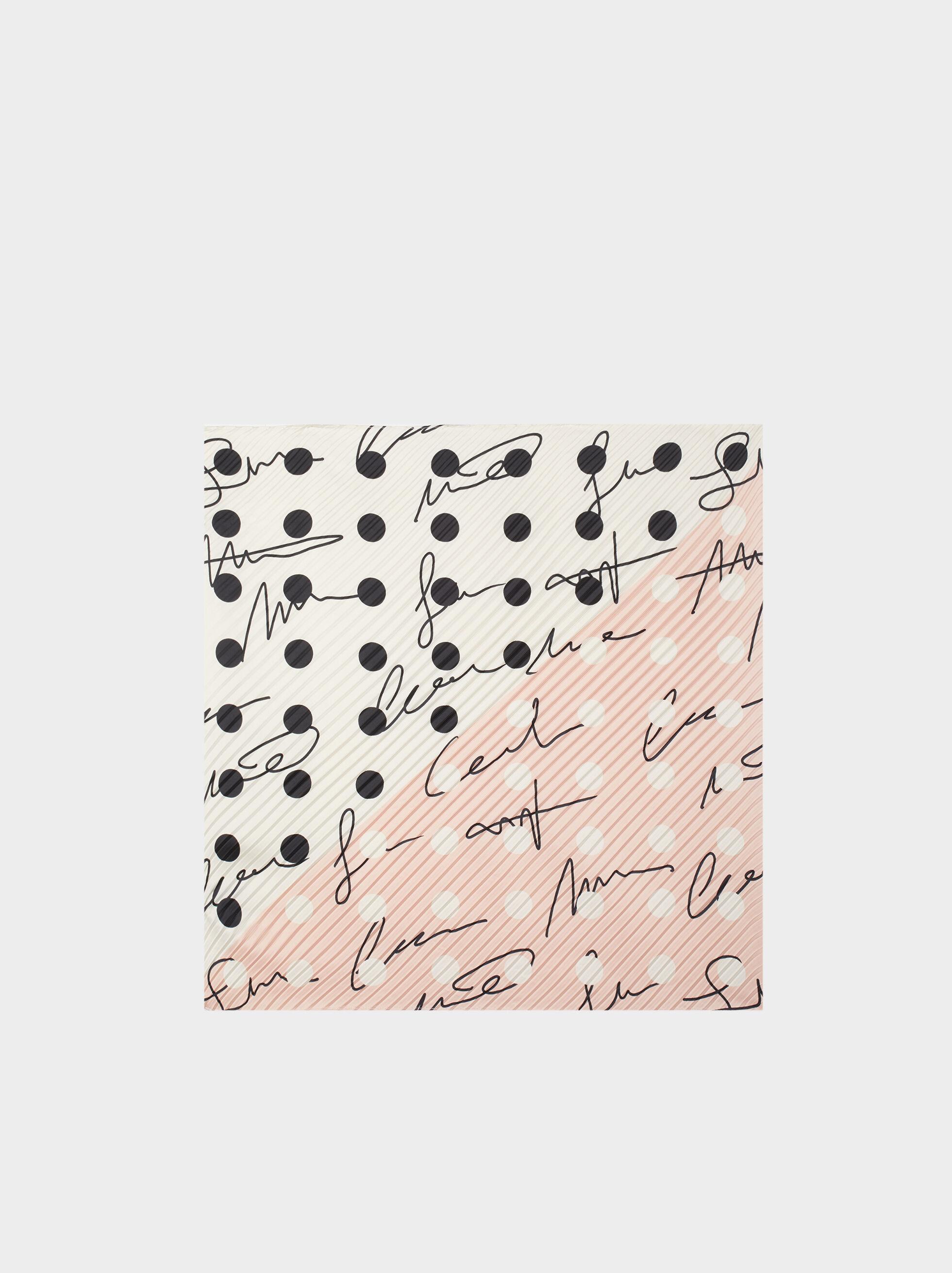 Printed Square Scarf, Pink, hi-res