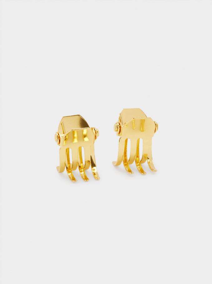 Set Of Hair Claws, Golden, hi-res