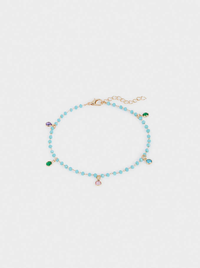 Anklet With Crystals, Multicolor, hi-res