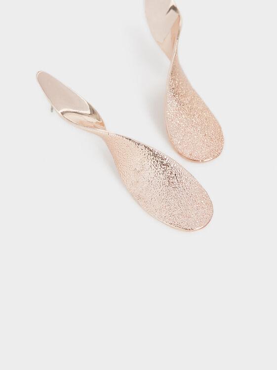Pink Desert Long Twisted Earrings, Orange, hi-res