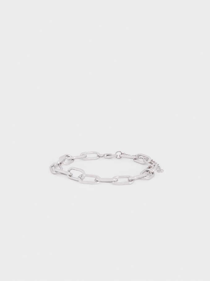Bracelet Ajustable En Acier, Argent, hi-res