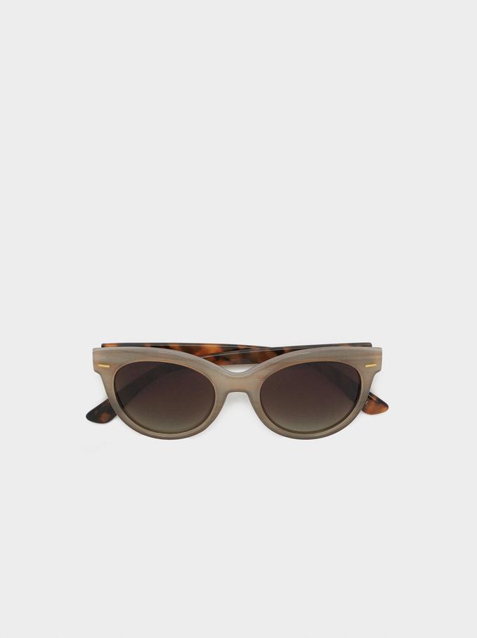Oval Frame Sunglasses, Multicolor, hi-res