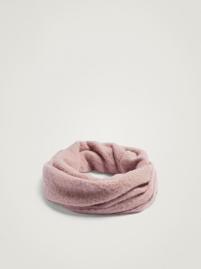 Plain Snood, Pink, hi-res