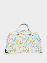Fruit Print Travel Bag, Orange, hi-res