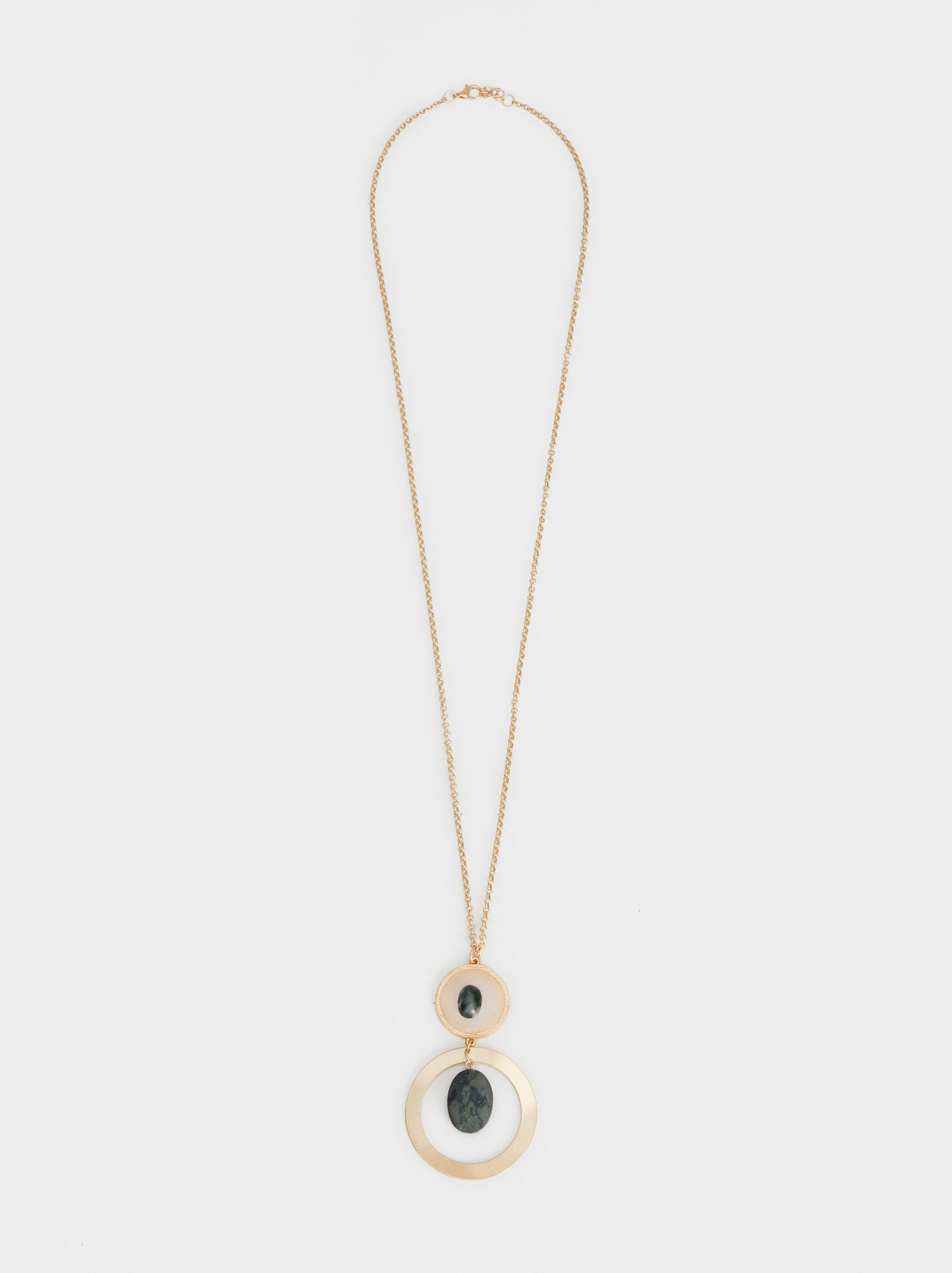 Stone Story Long Necklace With Pendant, , hi-res