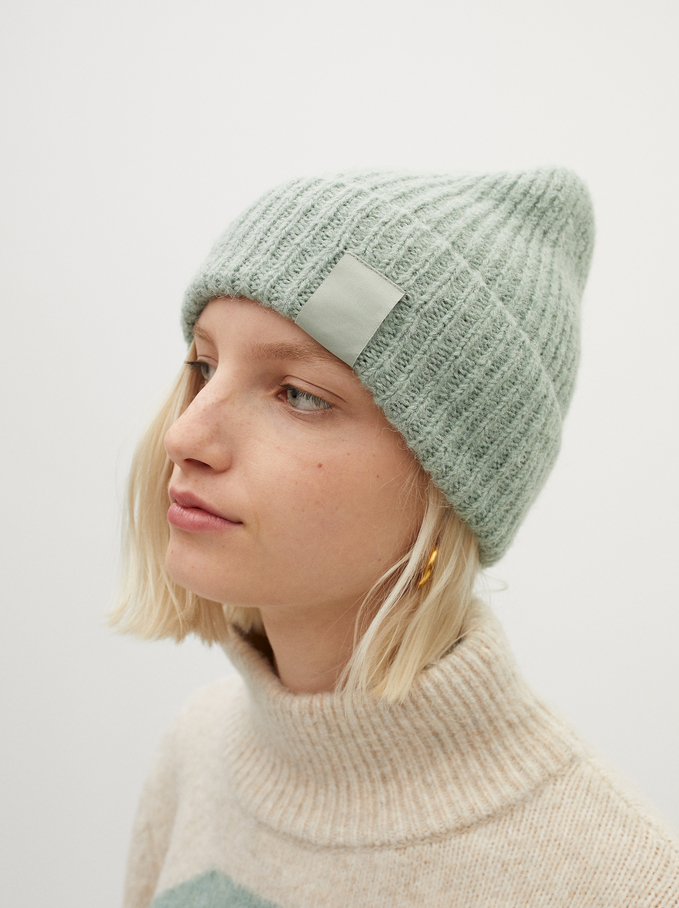 Knitted Turn-Up Hat, , hi-res