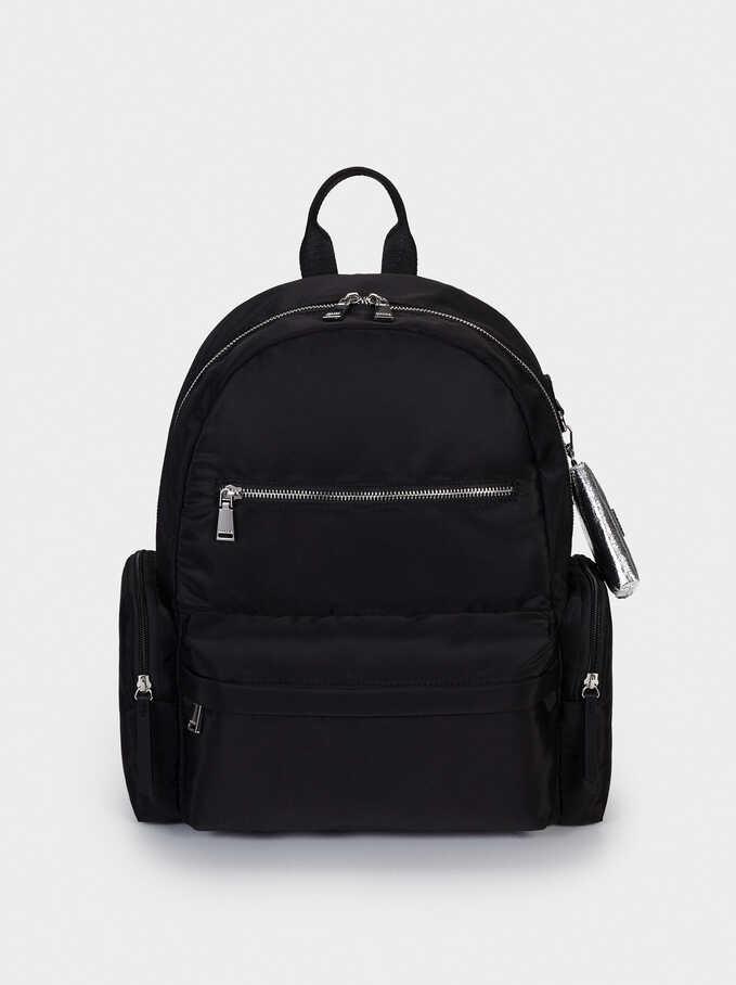 """Nylon Backpack For 13"""" Laptop, Black, hi-res"""