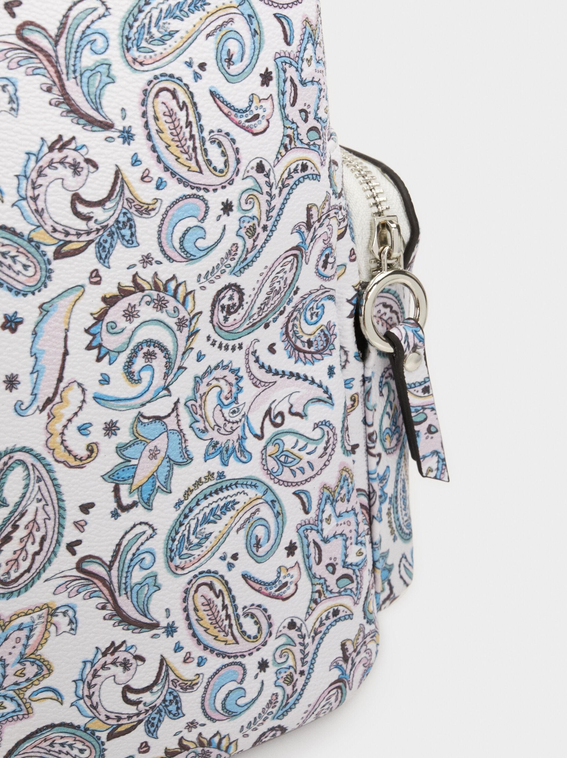 Paisley Print Backpack, Blue, hi-res