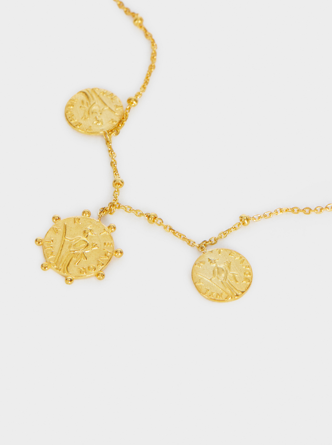 Bracelet Réglable En Argent 925, Doré, hi-res