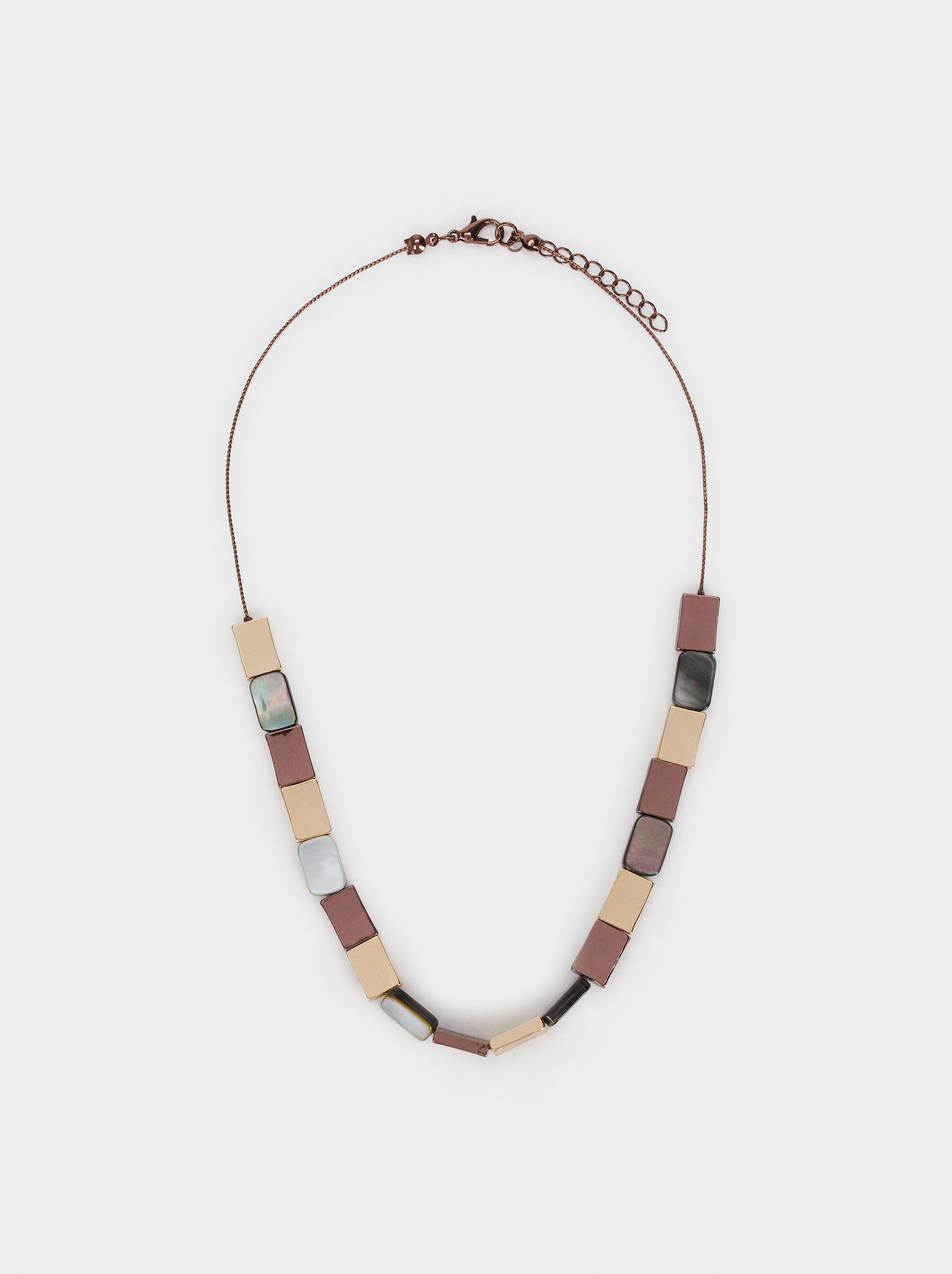 Blog Short Necklace, Multicolor, hi-res