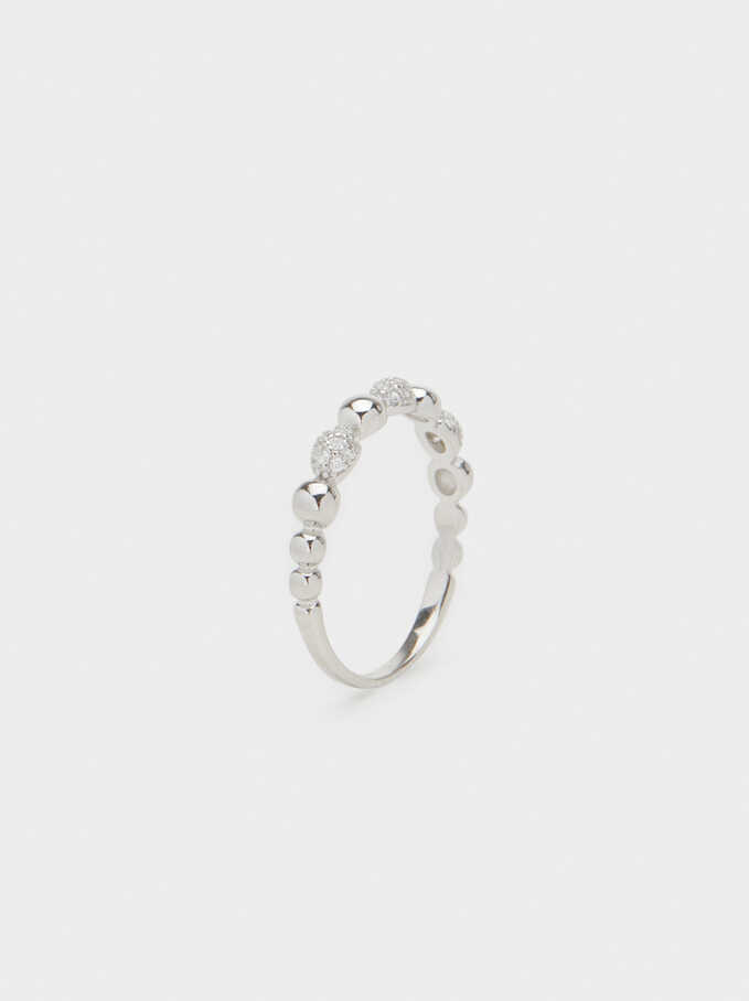 925 Sterling Silver Ring, Silver, hi-res
