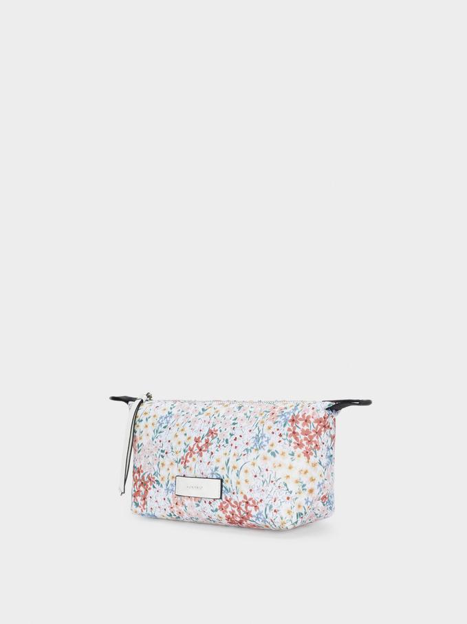 Floral Print Multi-Purpose Bag, White, hi-res
