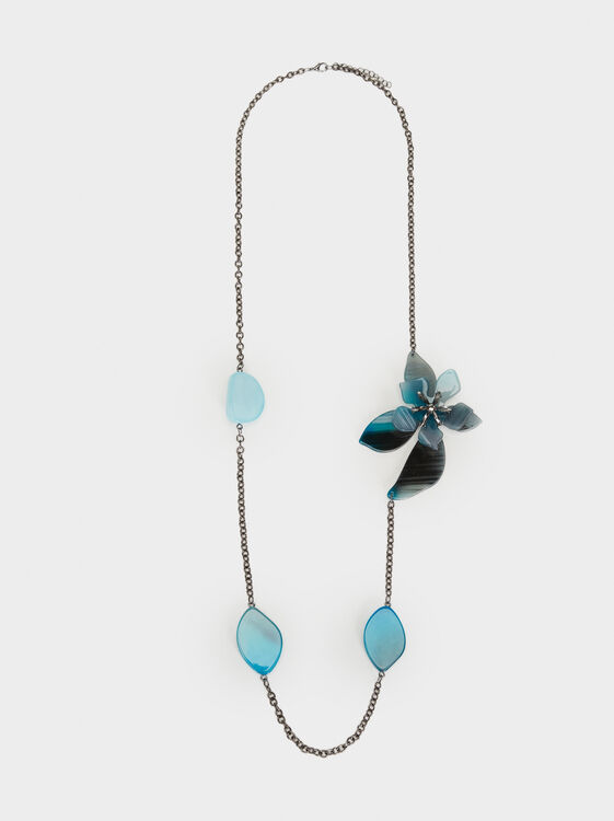 Botanic Party Long Necklace, Multicolor, hi-res
