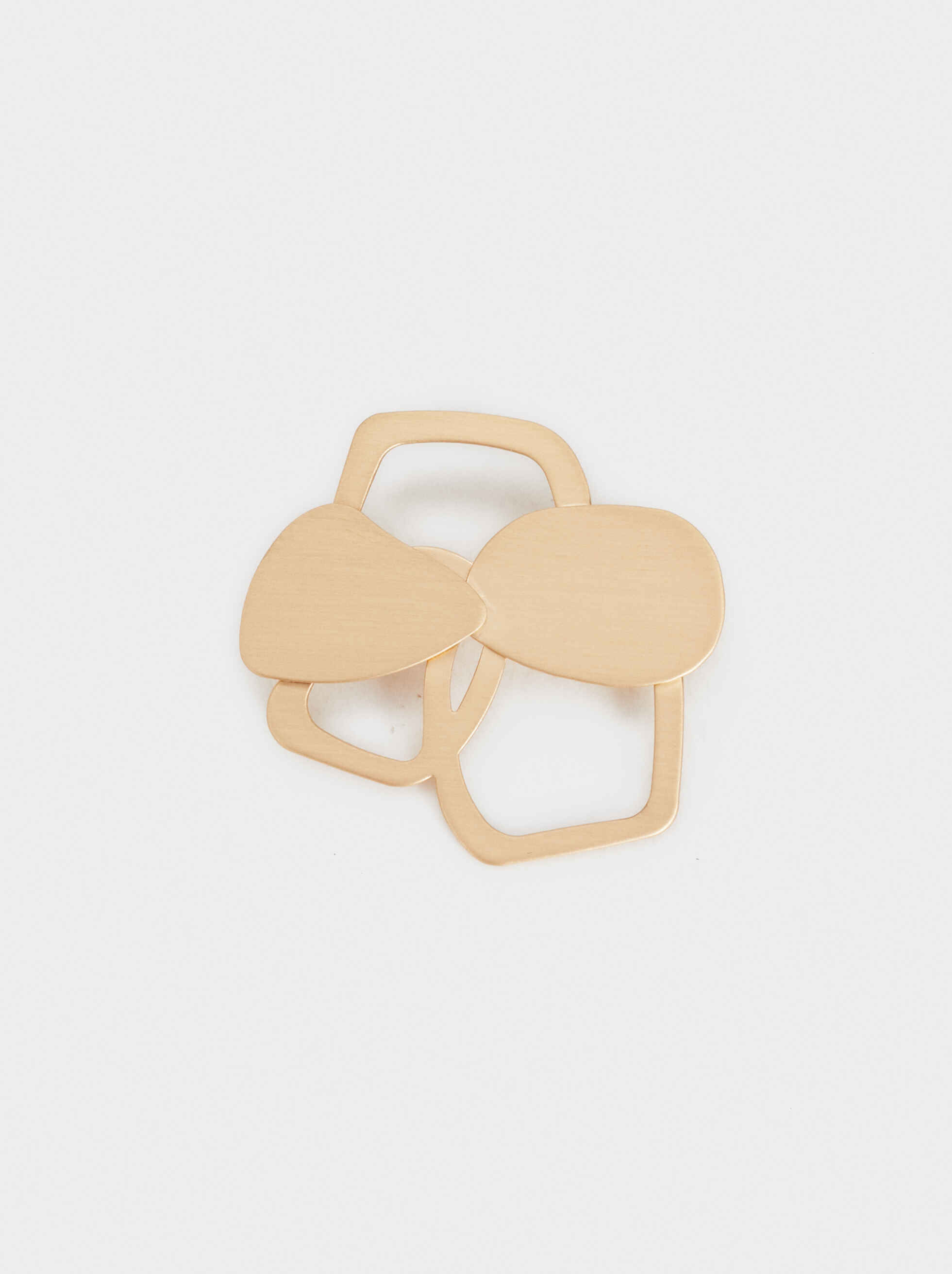 Exclusive Collection Flower Brooch, Golden, hi-res