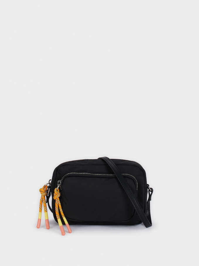 Nylon Crossbody Bag , Black, hi-res
