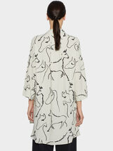 Horse Print Dress, Khaki, hi-res
