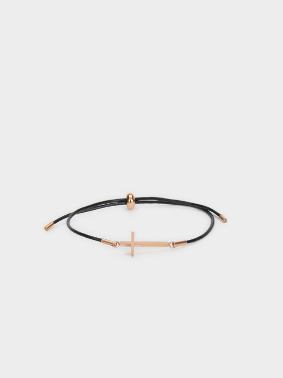 Steel Cross Bracelet, Orange, hi-res