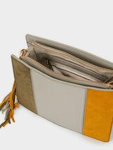 Suede Crossbody Bag, Brown, hi-res