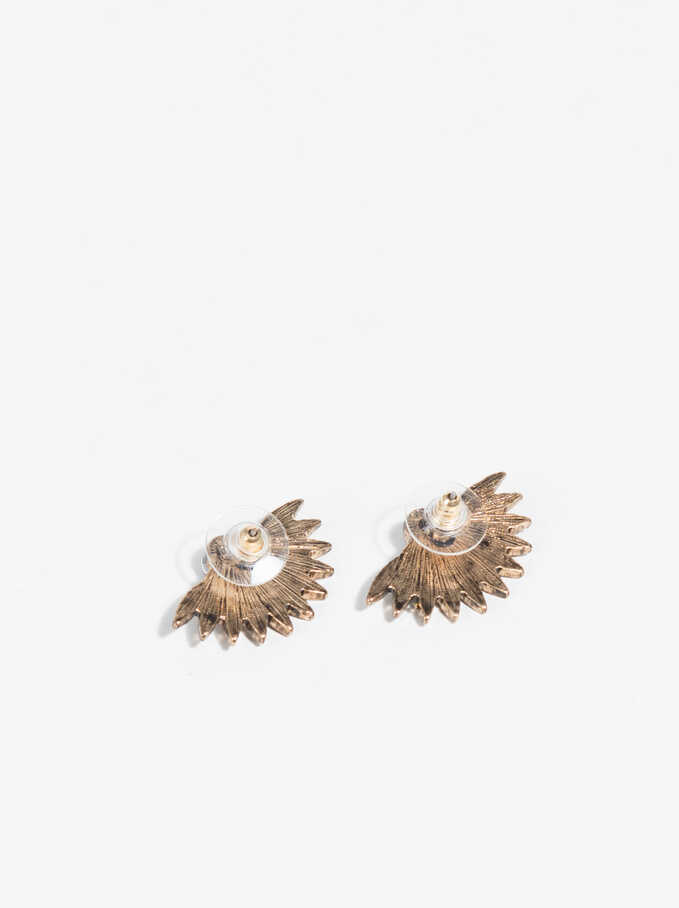 Basic Short Earrings, Golden, hi-res