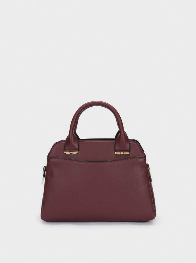 Tote Bag With Removable Shoulder Strap, Bordeaux, hi-res