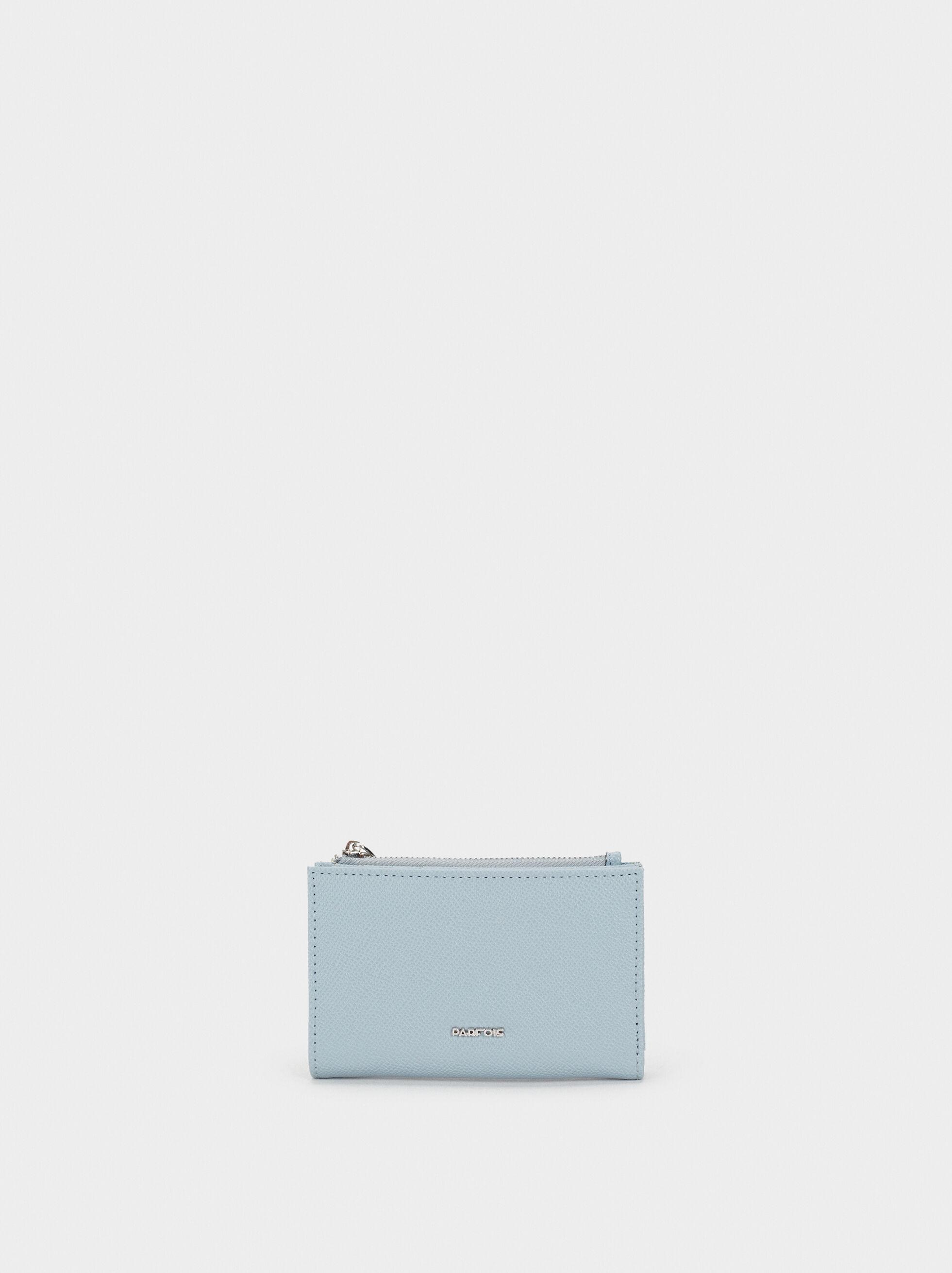 Textured Card Holder, Blue, hi-res