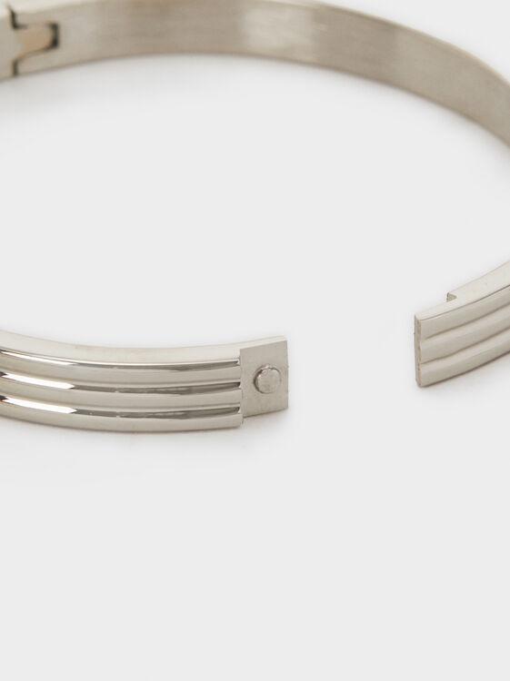 Steel Bangle, Silver, hi-res