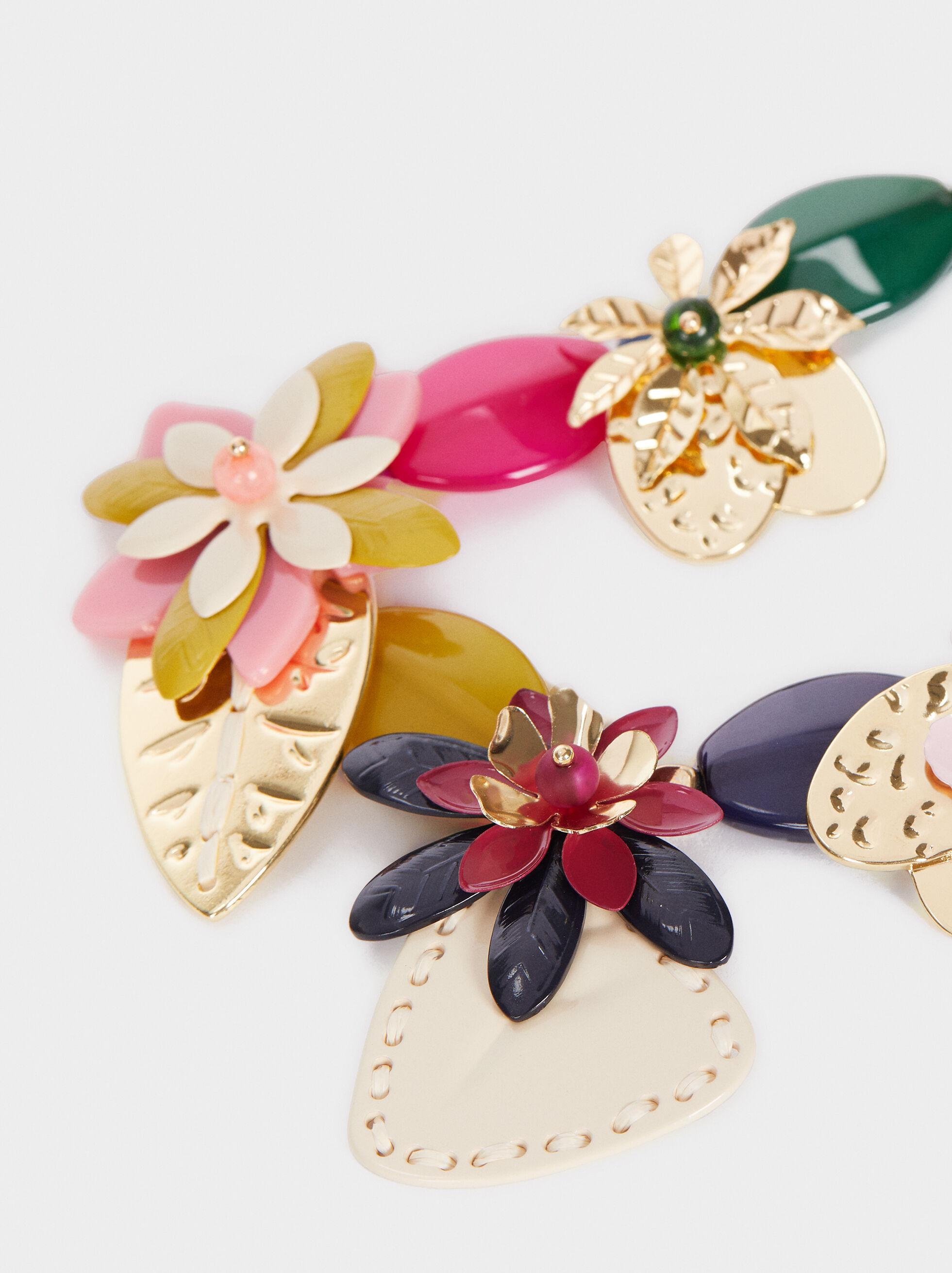 Wild Color Short Necklace, Multicolor, hi-res
