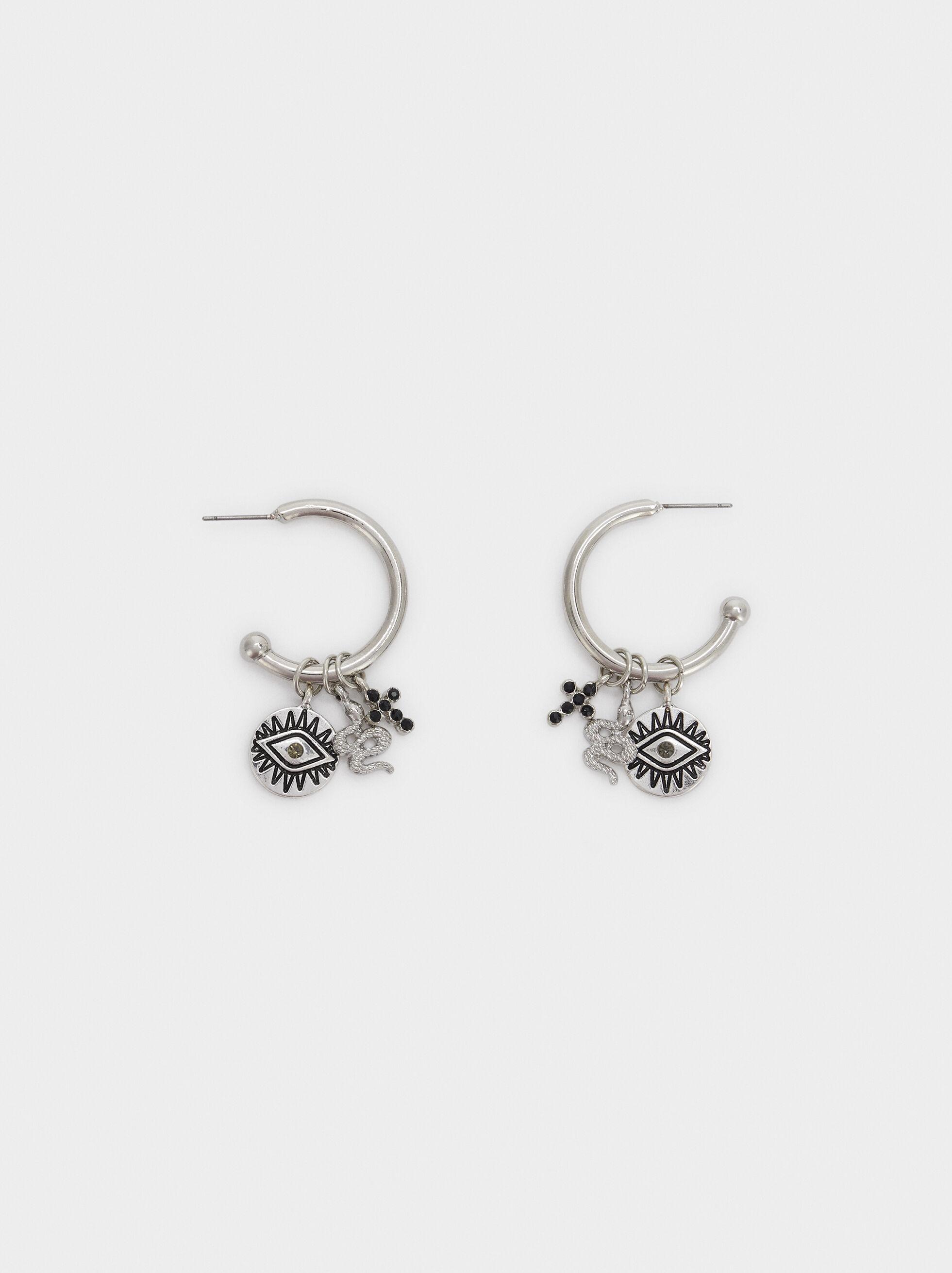Hoop Fever Large Hoop Earrings, Silver, hi-res
