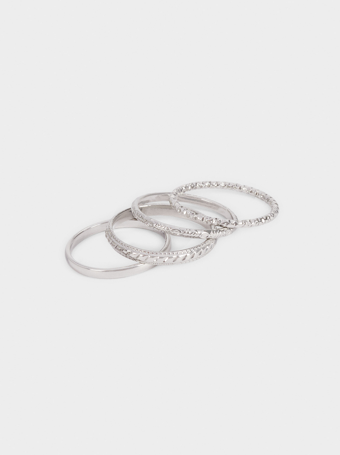 Set Of Silver Rings, Silver, hi-res