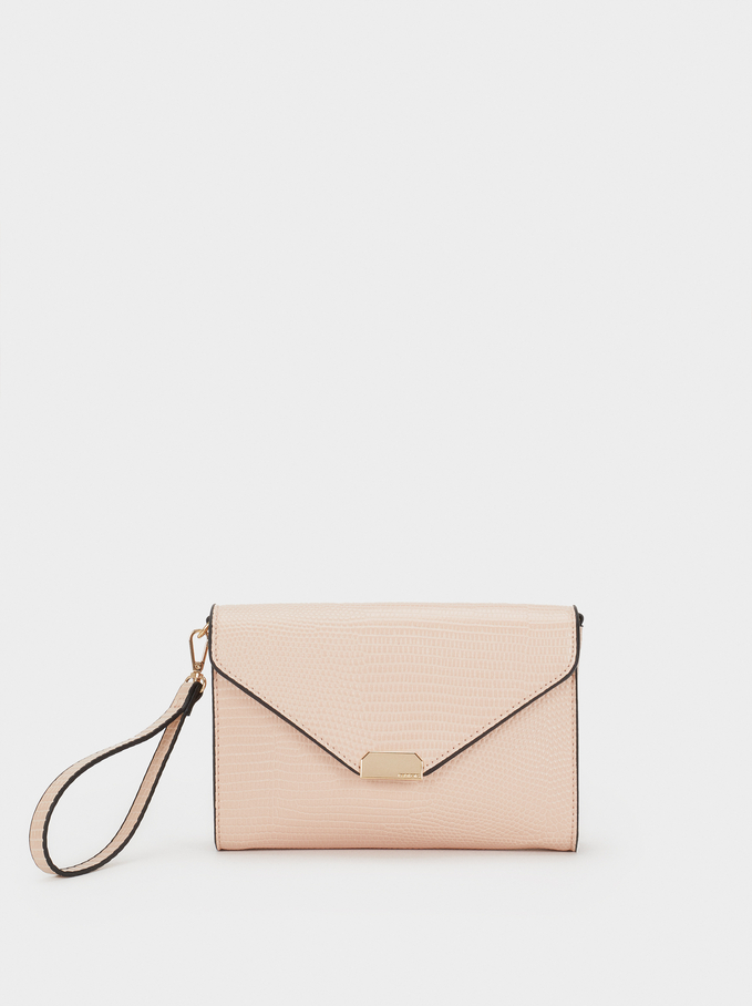 Animal Embossing Party Clutch, Pink, hi-res