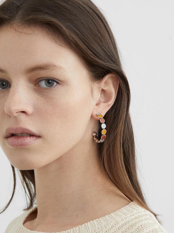 Start Valley Medium Hoop Earrings, Multicolor, hi-res