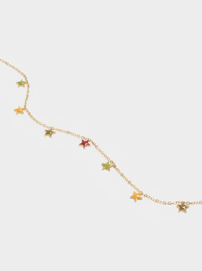 Pulsera De Acero Con Estrellas, Multicor, hi-res